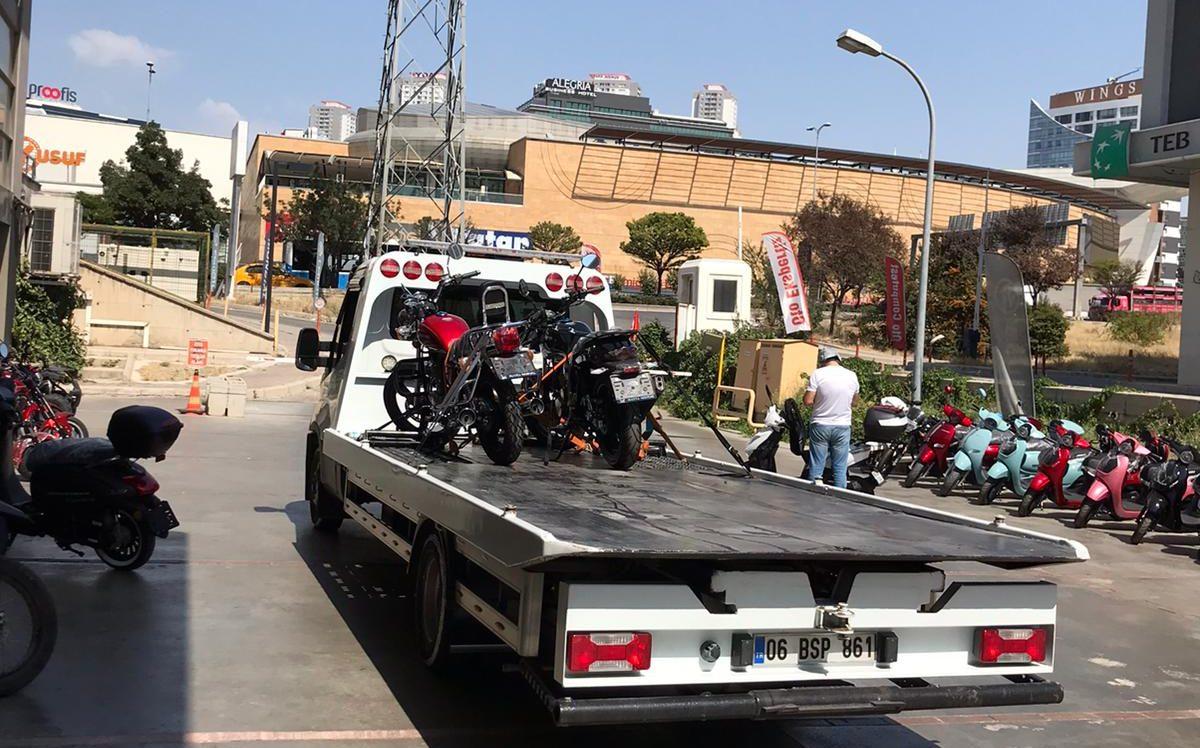 motorsikler oto taşıma ve çekme